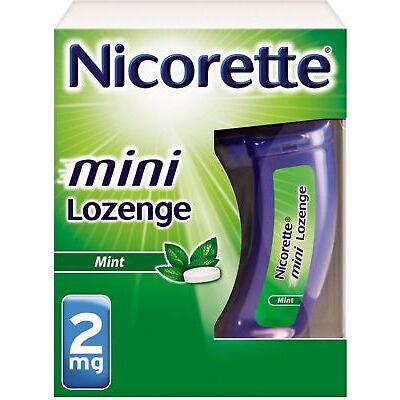 Nicorette Stop Smoking Aid 2 mg Mini Lozenges, Mint 20 ea (Pack of 2)