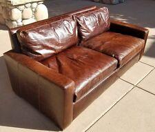 Restoration Hardware Petite 6' Maxwell Sofa - Italian Brompton Leather