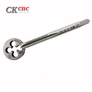 1pc HSS Machine M6 X 0.75mm Plug Tap and 1pc M6 X 0.75mm Die Threading Tool