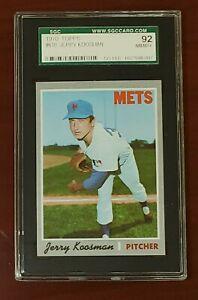 1970 Topps #610 Jerry Koosman Mets HOF SGC 92 NM/MT+ 8.5 Centered