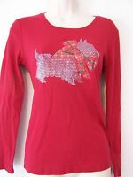 Sparkly Scottie With Bow Design Casual Or Pajama Top 100% Cotton Knit
