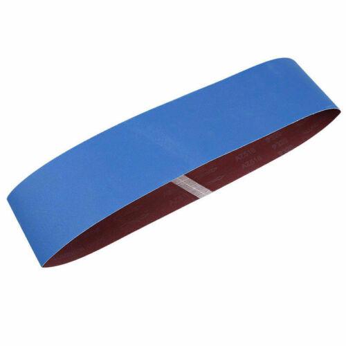 """4/"""" x 36/"""" Blue Aluminium Oxide Sanding Belts for Grinding Polishing 80-1000 Grit"""