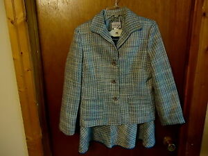 Womens-Jaclyn-Smith-2-Piece-Set-Jacket-Blazer-Size-8-Skirt-Size-6-034-BEAUTIFUL
