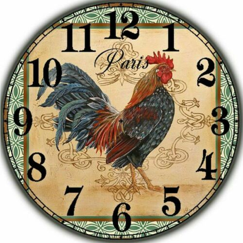 Diamond Painting DIY Rooster Design Clock House Wall Decoration Display Portrait