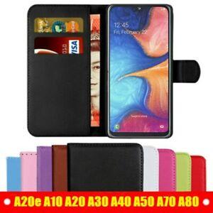 Case-For-Samsung-Galaxy-A20e-A10e-A50-A40-A30-A70-Leather-Flip-Card-Wallet-Cover