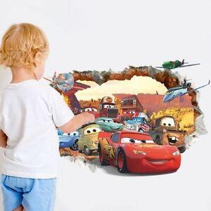cars auto wandtattoo wandsticker 3d xxl autos kinderzimmer deko ... - Kinderzimmer Deko Autos