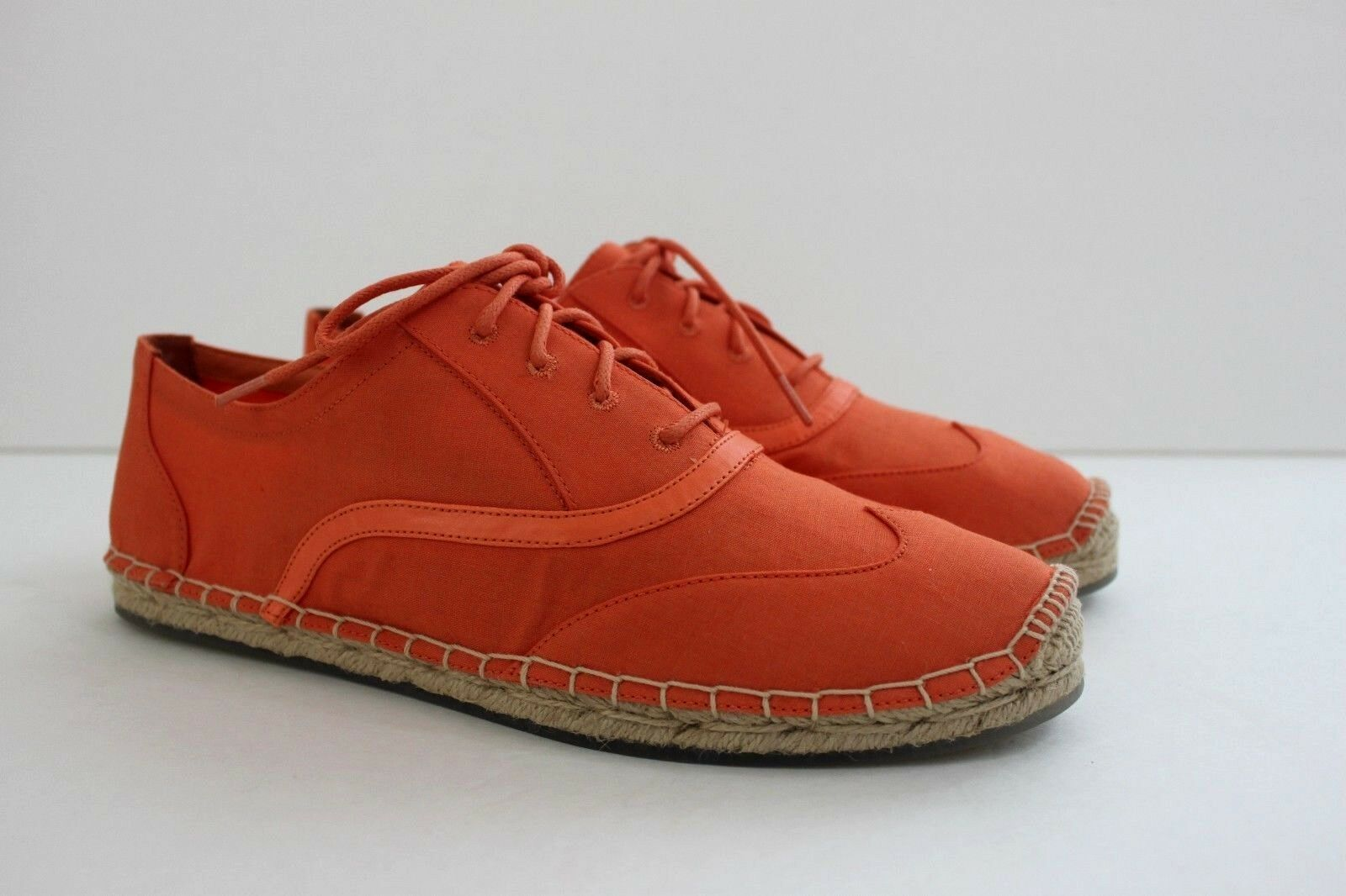 Cole Haan Damenschuhe Schuhe Größe 7 B Creamsicle Canvas Espadadrille Loafer Flat Oxford