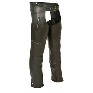 Mens Naked Leather Chap w/ Zippered Thigh Pockets ML1190