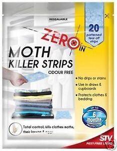 Zéro dans les vêtements inodore moth killer Protection Bandes Pack de 20 zer429-afficher le titre d`origine f7dhuehI-07194308-115140247