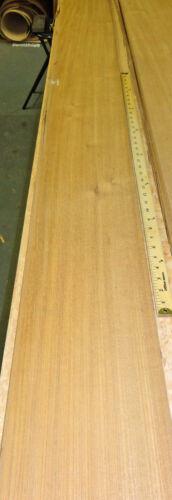 "Teak Brazilian Freijo wood veneer 8/"" x 127/"" raw no backing 1//42/"" thickness roll"