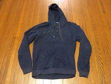 Men's Adidas Vespa Navy Blue Dark Green Button Down Pullover Hoodie sz L