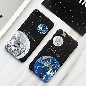 f10d889f63 Details about New Beautiful Star Moon Earth Honey Couple Hard Case For  iPhone X XS MAX 7 8Plus