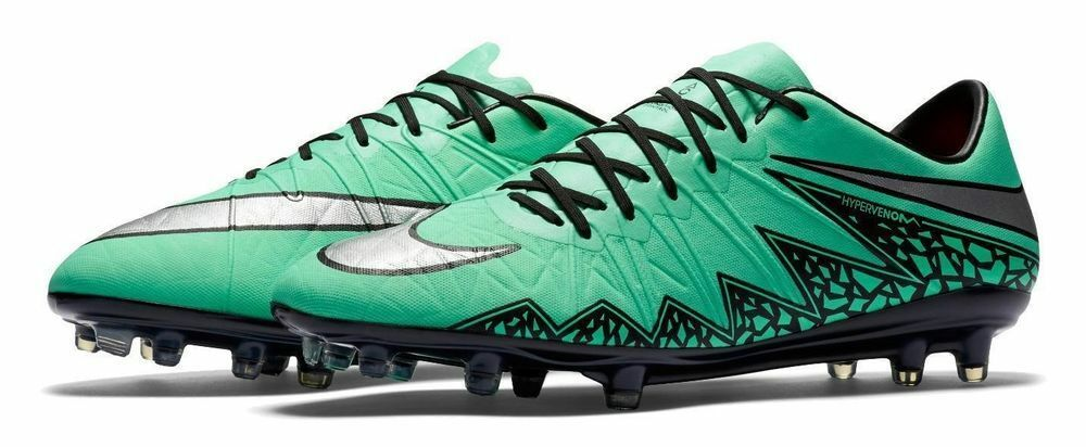 New mens 7 wmns 8.5 Nike hypervenom phinish II ACC glow 749901-309 soccer cleats