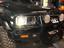 "thumbnail 8 - JTX, 1 Pair Black LED Headlights, 4x6"", White and Red Halo, Toyota Landcruiser"