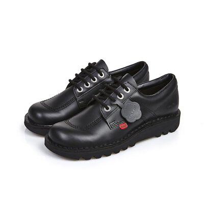 Kickers Kick Low Black Leather Back To