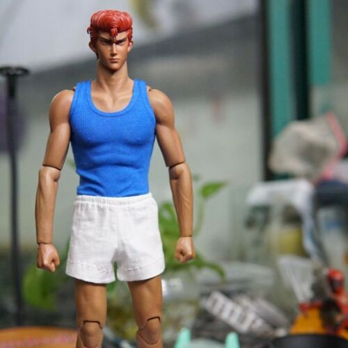 """Toy Blue Tank top Tshirt For 1//6 Scale Male 12/"""" Action Figure 1:6 Model HT etc"""