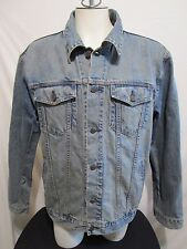 Gap 1969 Distressed Denim Trucker Blue Jean Jacket Mens Size XL