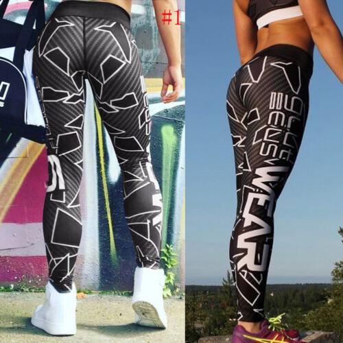 Women High Waist Yoga Fitness Leggings Running Gym Sports Pants Trousers Lot