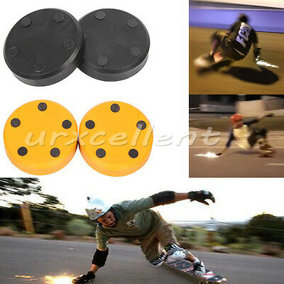 2X Replacement Slider Block Flash Spark for Skateboard Longboard Sliding Gloves