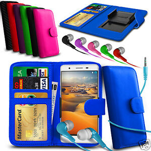For-Maxwest-Astro-X55-Clip-On-PU-Leather-Wallet-Case-amp-Earphone