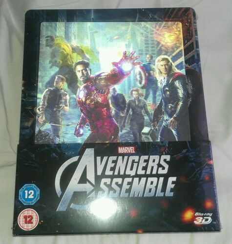New Avengers 3 D+2 D Blu Ray Steelbook™ + Lenticular Magnet Zavvi Exclusive by Marvel