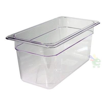 Vaschetta contenitore cibi policarbonato trasparente per alimenti 325x176X100 mm