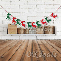 MERRY CHRISTMAS XMAS 10 ELKS BANNER GARLAND HANGING BUNTING DECORATIONS DIY