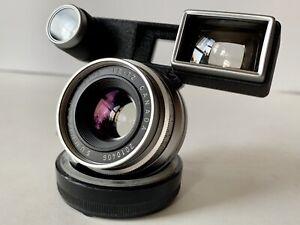 Leica-Leitz-35mm-f-2-Summicron-M-Chrome-Lens-w-Goggles-8-Elements-1st-Version-M3