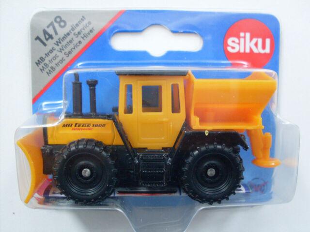 1478 Siku Super MB-trac Winterdienst LKW Schneepflug Winterdienst NEU TOP