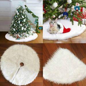 Image Is Loading Luxury Faux Fur Christmas Tree Skirt 48 Inch