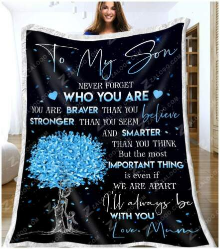 Important Thing Sofa Fleece Blanket 50-80 To My Son