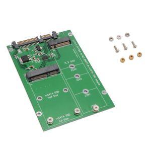 M-2-NGFF-mSATA-SSD-Festplatte-auf-SATA-3-Adapter-Mini-PCI-E-Converter-B-amp-B-M-Schluessel