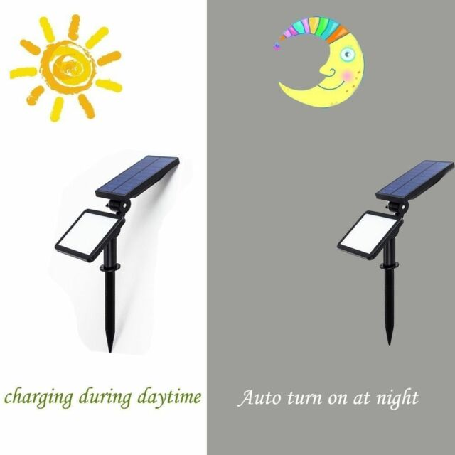 48 Led Solar Ed Flood Light Outdoor Yard Garden Spot Lamp Waterproof Ip65