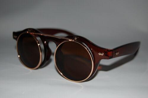 Steampunk Brillen Retro Aufklappen Sonnenbrille Lady Gaga Vintage Schlüsselloch