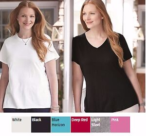 0331d8ee707 New! Hanes-Just My Size Women s Plus Short Sleeve Crew or V-Neck Tee ...