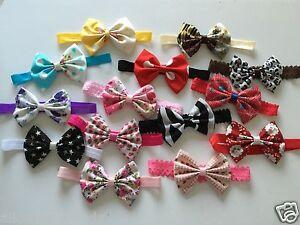 Fabric-Bows-Headband-or-Clip-Baby-Girl-Headbands-Newborn-Toddler-Girls-Lot