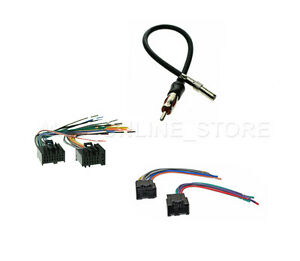 car radio stereo male female wire harness antenna adapter chevrolet rh ebay com Crimp Connection Amp Crimp Connector