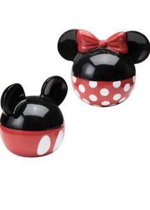 Disney Vandor Classic Mickey Minnie Mouse Ears Ceramic Salt Pepper Shaker Set