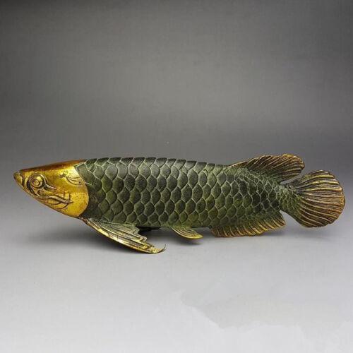 Chinese bronze gilt old handwork lucky  home decoration handicraft  /' Fish  /'
