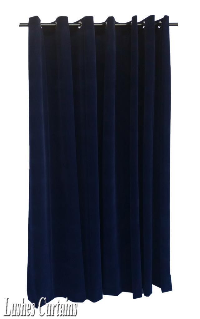 Marineblau 366cm lang Samt Vorhang Fläche mit   dichtkörper oberen Ösen Fenster | Günstigen Preis