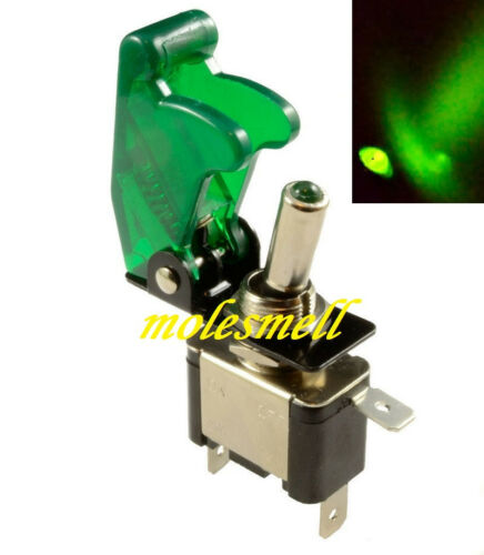 1pc 12V Green Car//Boat Light Led 12V 20A Toggle ON//OFF Switch+Green Cover diy