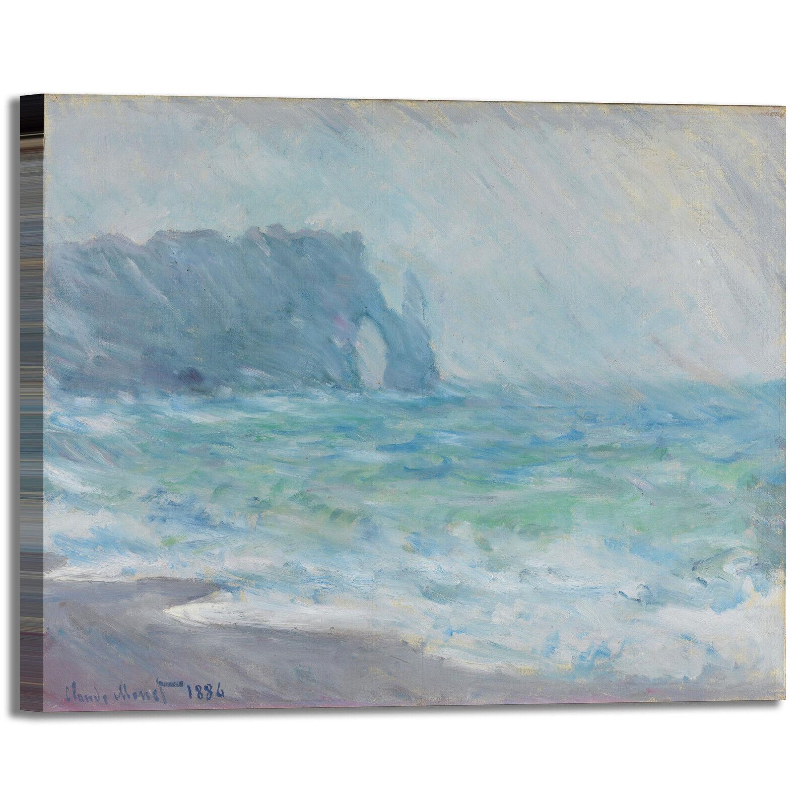 Monet Etretat design quadro stampa tela dipinto telaio arroto casa