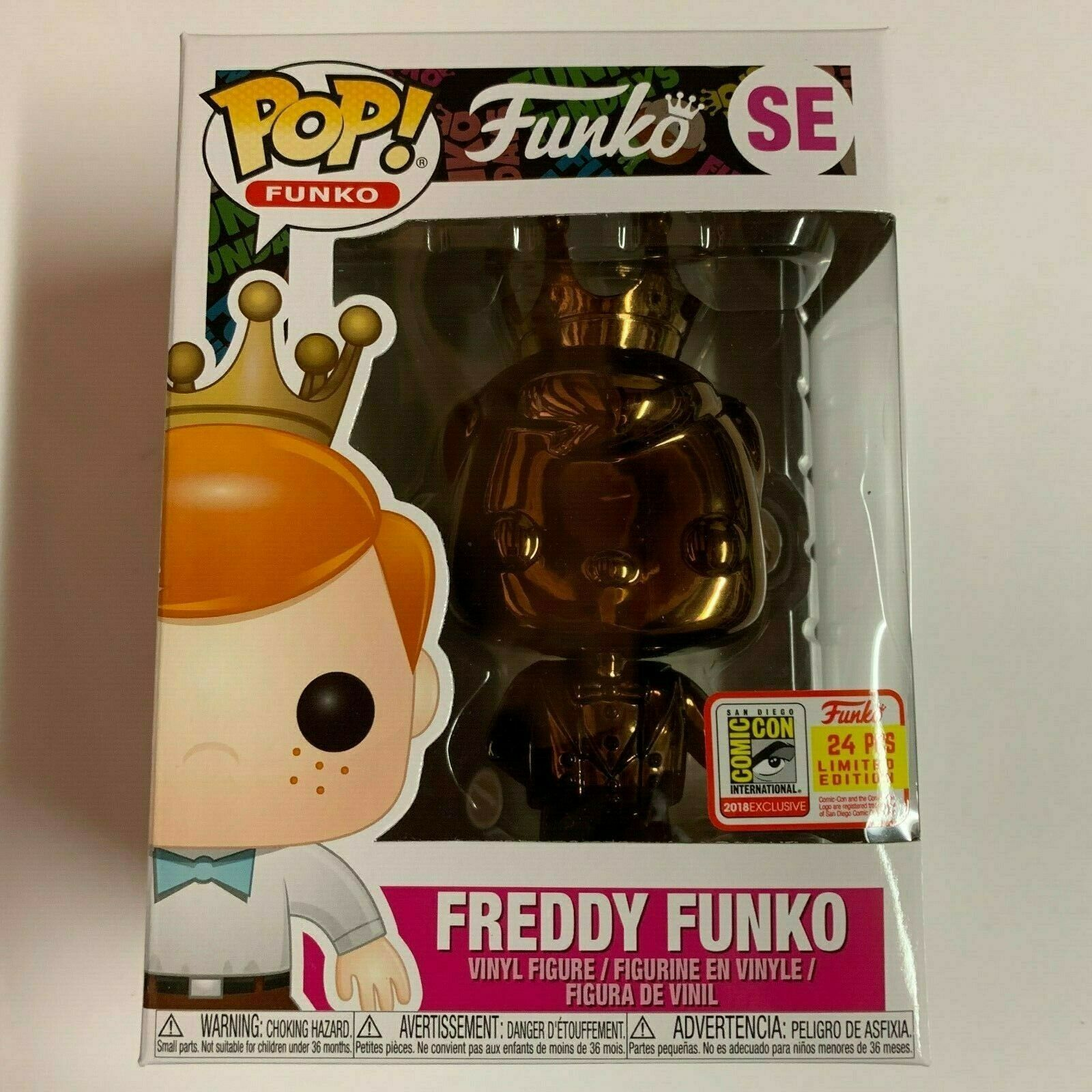 Funko SDCC 2018 Fundays Exclusive DARK BRONZE CHROME FrotDY LE 24 PIECES  SE