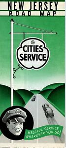 1940 Cities Service Road Map: New Jersey NOS | eBay