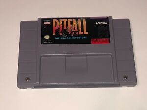 Pitfall-The-Mayan-Adventure-Super-Nintendo-Snes-Cleaned-amp-Tested-Authentic