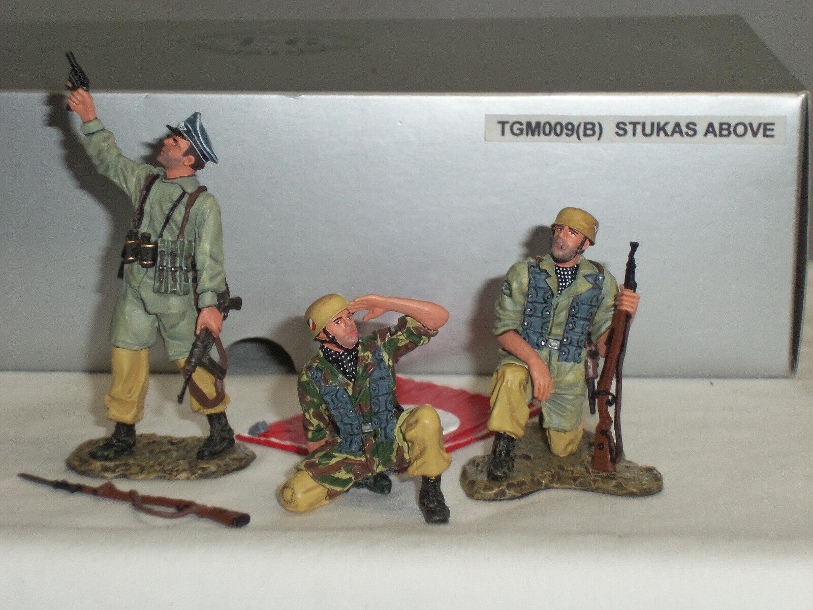THOMAS GUNN TGM009B GERMAN TROOPS STUKAS ABOVE TROPICAL VERSION TOY SOLDIER SET