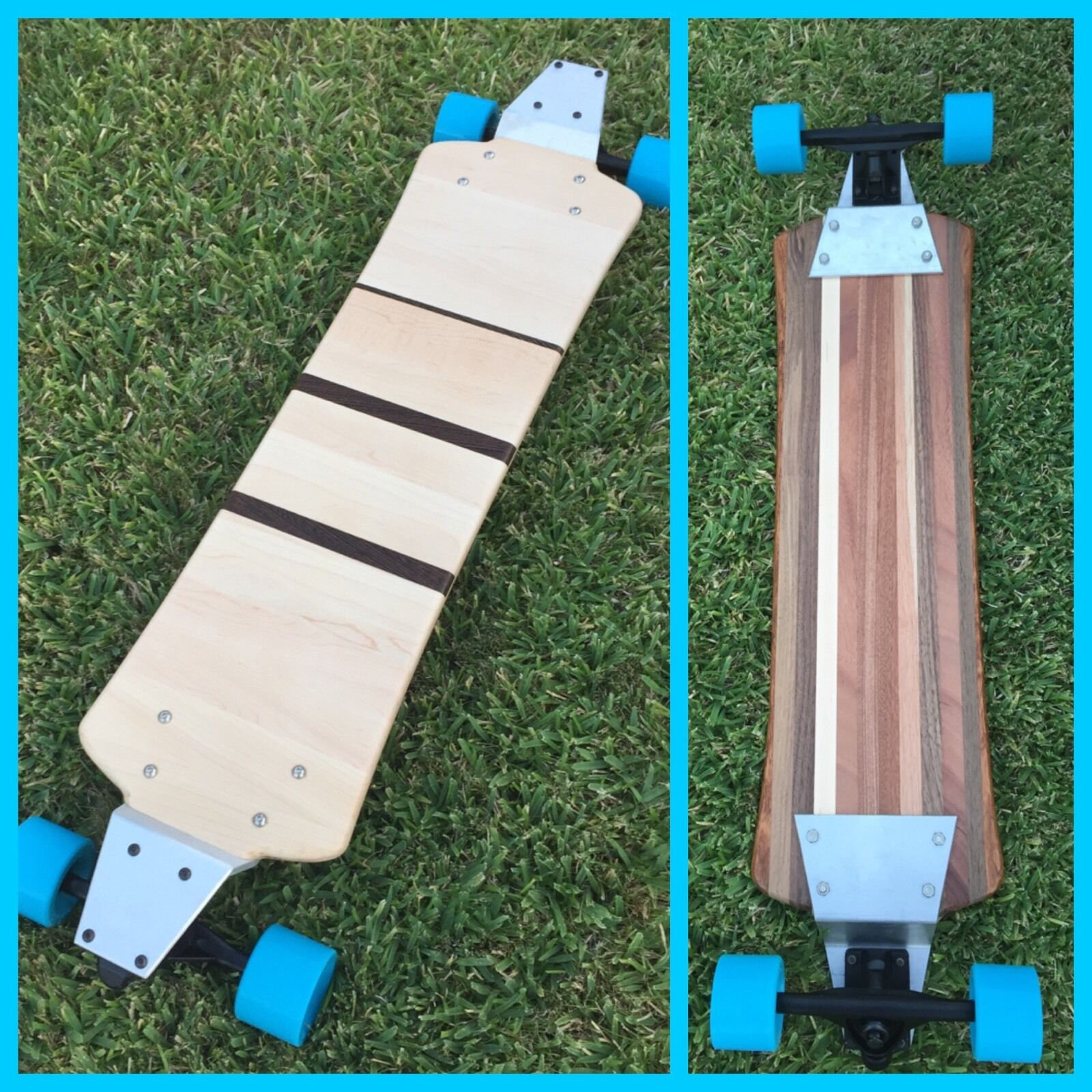 Longboard (2 Sided) with Drop Plates -  Solid Wood - Flamenco  high quality genuine