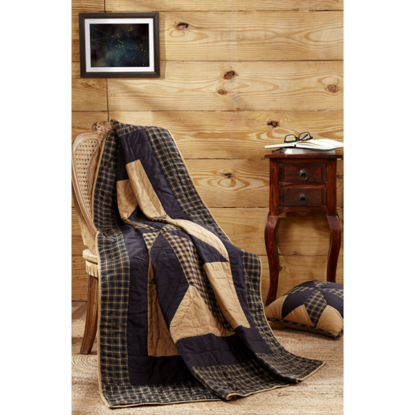 **country Primitive** Dakota Star Quilted Throw 60x50 By Vhc Brands