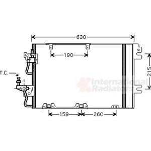 Condensateur Climatisation-VAN WEZEL 37005367
