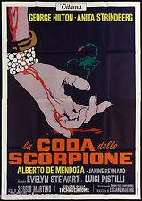 LA CODA DELLO SCORPIONE MANIFESTO FILM ANITA STRINDBERG THRILLER 1971 POSTER 4F